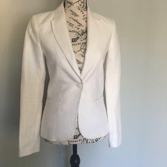 Ivory H&M Blazer SZ 4-great condition-lined